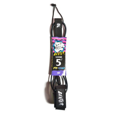 Catch Surf - Catch Surf - Beater Pro Comp 5' Leash - Black/Checker - Products - The Mysto Spot
