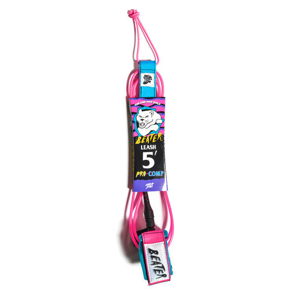 Catch Surf - Catch Surf - Beater Pro Comp 5' Leash - Pink/Blue - Products - The Mysto Spot