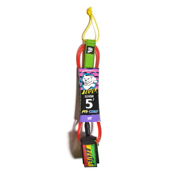 Catch Surf - Catch Surf - Beater Pro Comp 5' Leash - Rasta - Products - The Mysto Spot