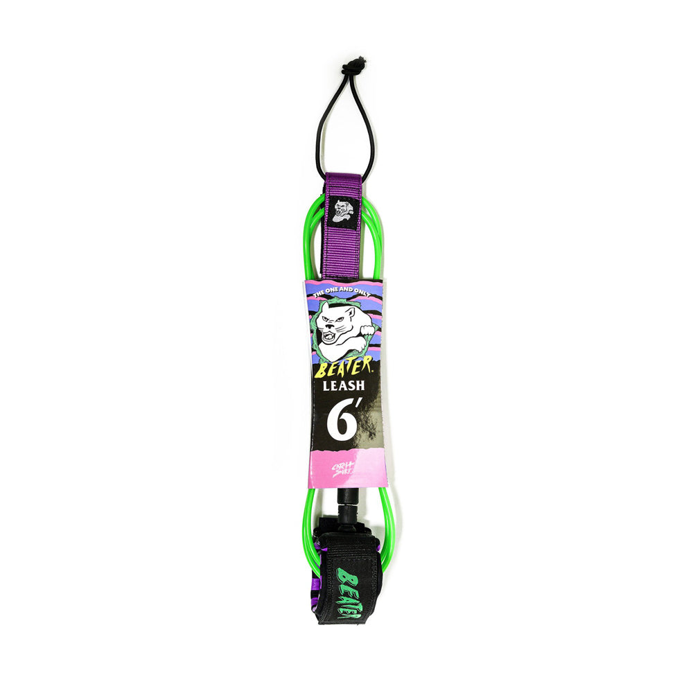 Catch Surf - Catch Surf - Beater 6' Leash - Green/Purple - Products - The Mysto Spot