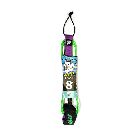 Catch Surf - Beater 8' Leash - Green/Purple