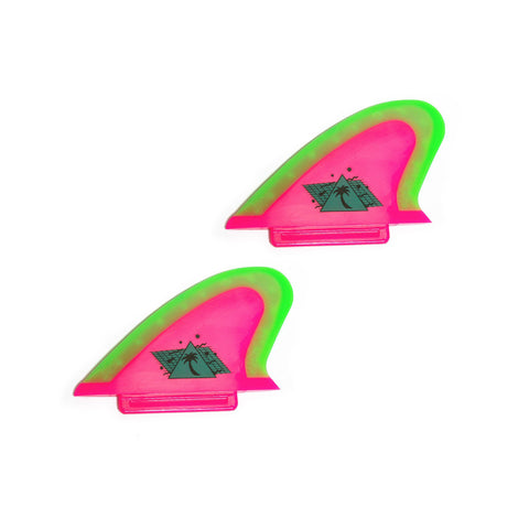Catch Surf - Catch Surf - Beater Pro Safety Edge Twin Fin Kit - Hot Pink/Lime - Products - The Mysto Spot