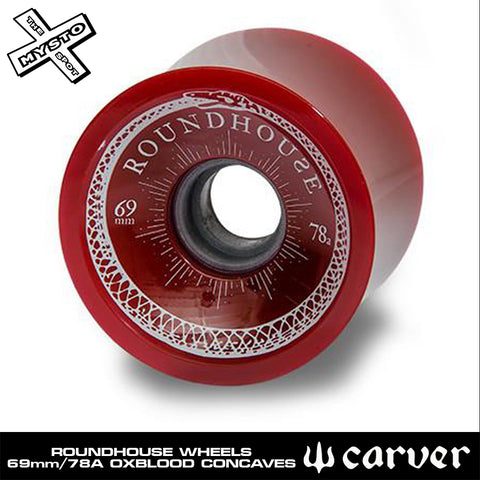 Carver - Carver Skateboards - Roundhouse Wheels - 69mm Oxblood Concaves (78A) - Single - Products - The Mysto Spot