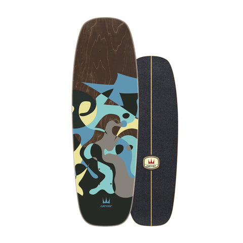 "Carver Skateboards - 30"" Blue Ray - Deck Only"
