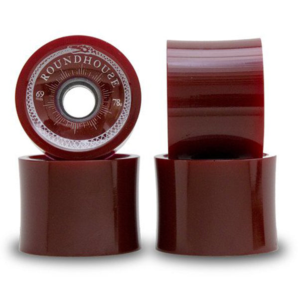 Carver - Carver Skateboards - Roundhouse Wheels - 69mm Oxblood Concaves (78A) - Products - The Mysto Spot
