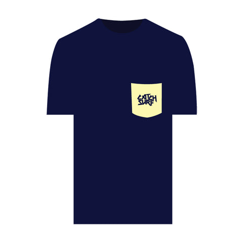 Catch Surf - Fake Pocket Logo Tee ~ Midnight Blue - Large