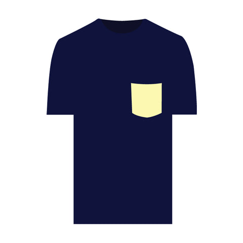 Catch Surf - Fake Pocket Tee ~ Midnight Blue - Large