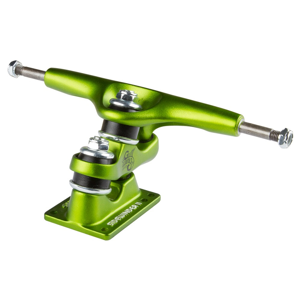 "Gullwing - Gullwing Trucks - 9"" Sidewinder Truck Set - Lime - Products - The Mysto Spot"