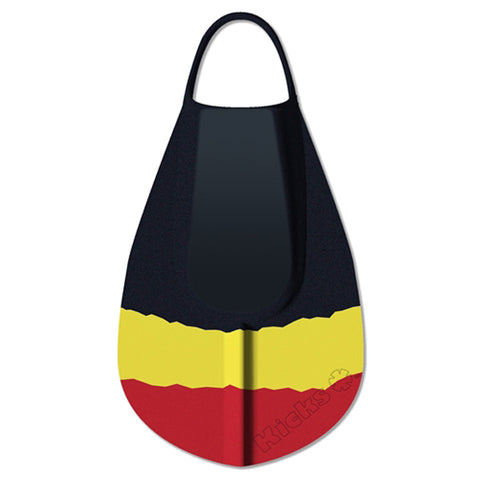 Kicks Bodyboard Fins - Black Yellow Red