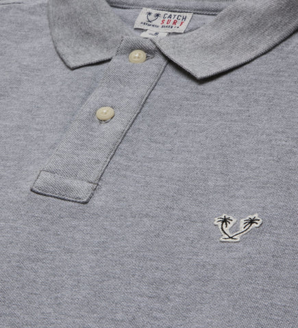 Catch Surf - Catch Surf - Lyon L/S Polo - Grey Heather - Small - Products - The Mysto Spot