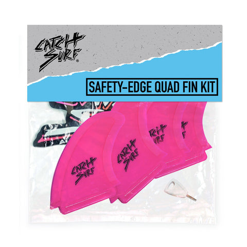 Catch Surf - Safety Edge Quad Fin Kit - Pink