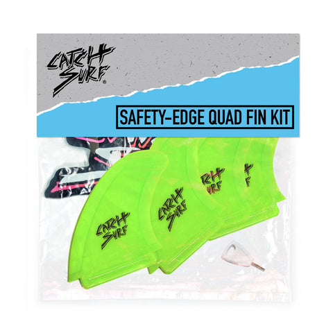 Catch Surf - Safety Edge Quad Fin Kit - Lime