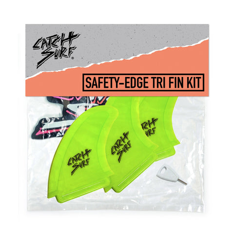 Catch Surf - Stump Safety Edge Thruster Fin Kit - Lime