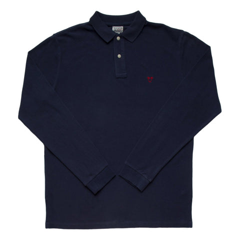 Catch Surf - Catch Surf - Lyon L/S Polo - Navy - Small - Products - The Mysto Spot