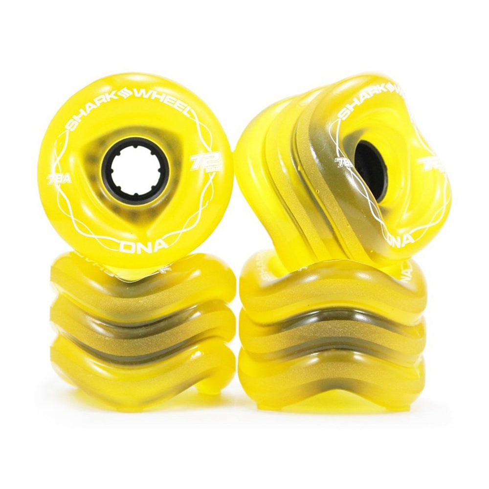 Shark Wheel - Shark Wheel - DNA Formula - 72mm Skateboard Wheels - Transparent Amber - Products - The Mysto Spot