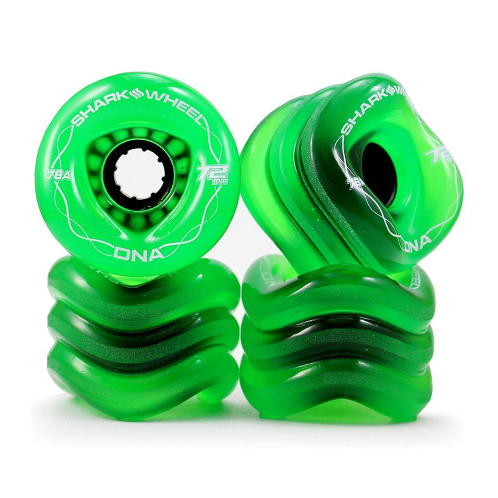 Shark Wheel - Shark Wheel - DNA Formula - 72mm Skateboard Wheels - Transparent Green - Products - The Mysto Spot