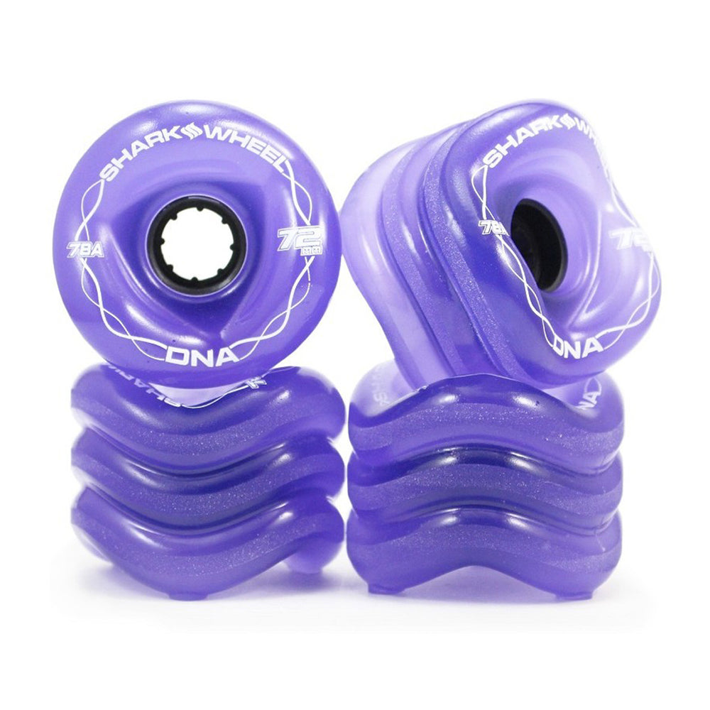 Shark Wheel - Shark Wheel - DNA Formula - 72mm Skateboard Wheels - Transparent Purple - Products - The Mysto Spot