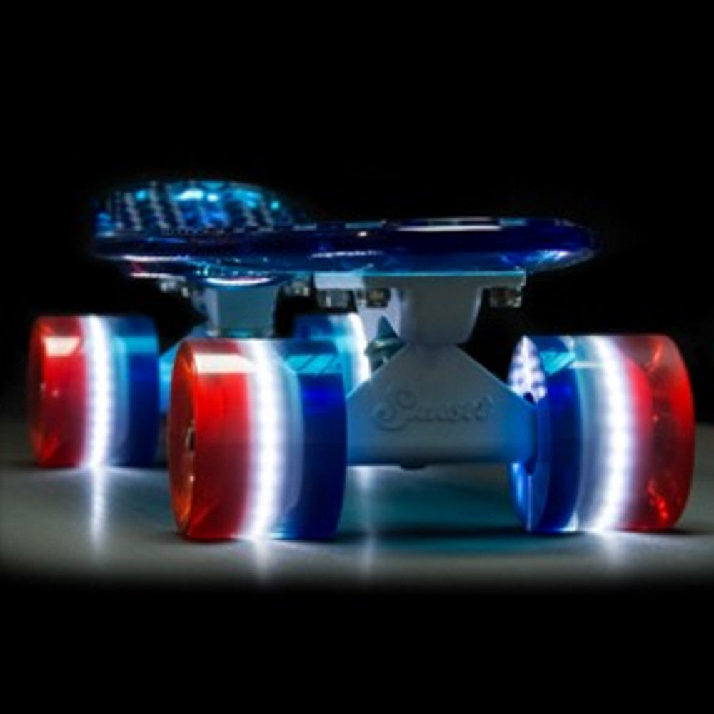 Sunset Skateboards - Sunset Skateboards - Flare LED Wheels - 59mm Cruiser ~ Merica - Products - The Mysto Spot
