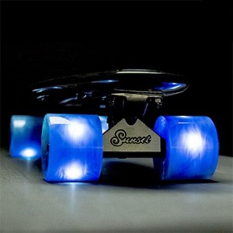 Sunset Skateboards - Flare LED Wheels - 59mm Cruiser ~ Swirl