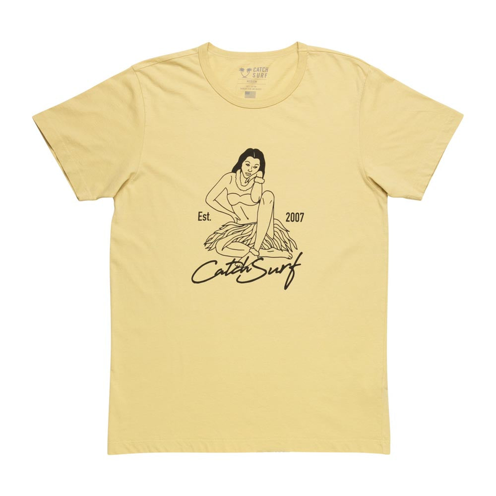 Catch Surf - Catch Surf - Hula Girl S/S Tee ~ Vintage Yellow - Products - The Mysto Spot