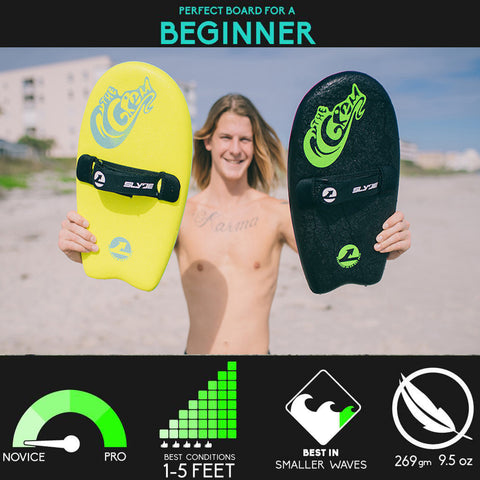Slyde Handboards - Slyde Handboards - The Grom - Black & Lemon - Products - The Mysto Spot