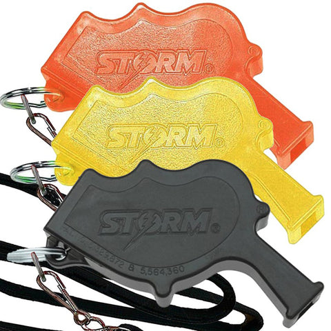 Storm Whistles - Storm Whistles - The Storm - Black + Lanyard - Products - The Mysto Spot