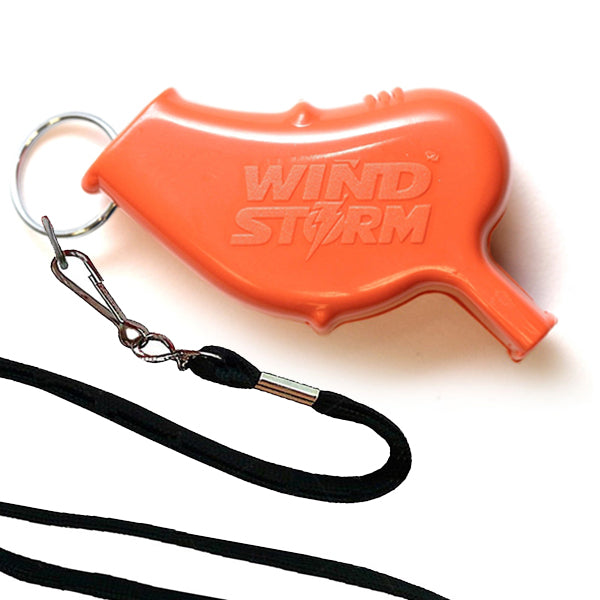 Storm Whistles - Storm Whistles - The Windstorm - Orange + Lanyard - Products - The Mysto Spot