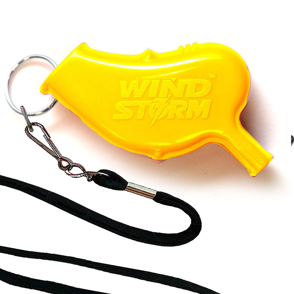 Storm Whistles - Storm Whistles - The Windstorm - Yellow + Lanyard - Products - The Mysto Spot
