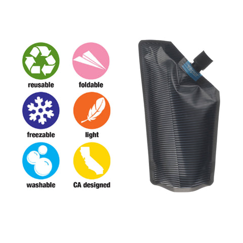 Vapur - Vapur Hydration - 300ML Incognito Flask - Grey - Products - The Mysto Spot