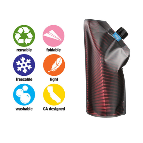 Vapur Hydration - 750ML Vintage Wine Carrier - Maroon