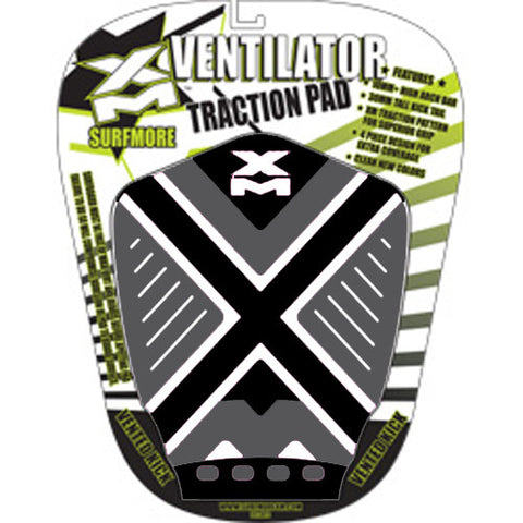 Surf More XM - Ventilator Tailpad - Black/White/Grey