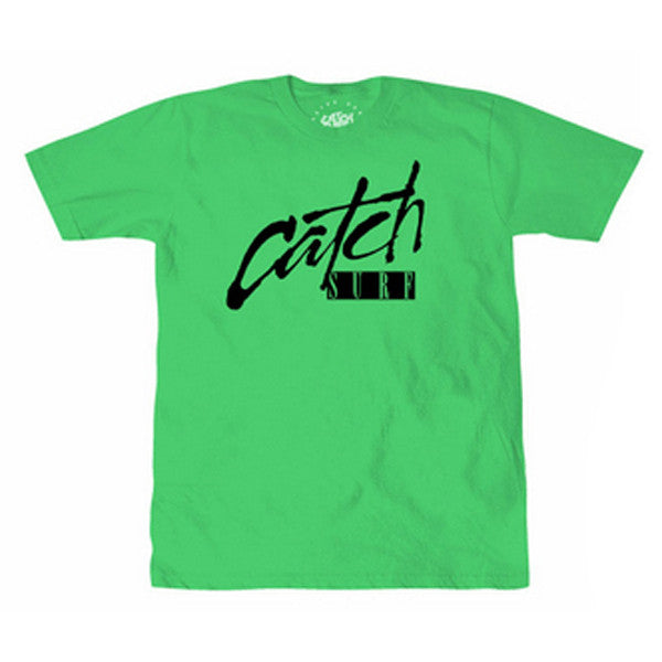 Catch Surf - Catch Surf - Script Tee - Green - Large - Products - The Mysto Spot