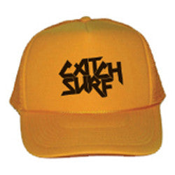 Catch Surf - Catch Surf - Logo Trucker Cap ~ Gold - Products - The Mysto Spot