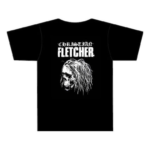 Christian Fletcher T-Shirt - New Skull - Black