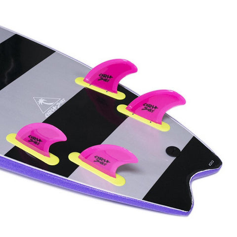 Catch Surf - Catch Surf - Stump/Skipper Safety Edge Quad Fin Kit - Pink - Products - The Mysto Spot