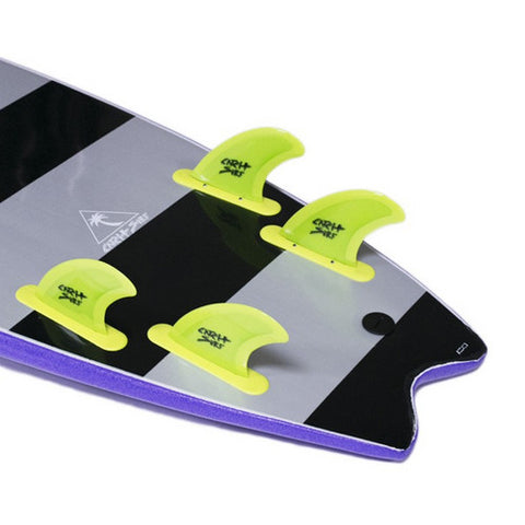 Catch Surf - Catch Surf - Stump/Skipper Safety Edge Quad Fin Kit - Lime - Products - The Mysto Spot