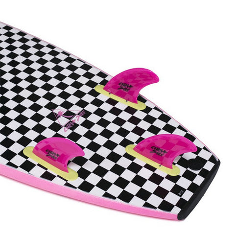 Catch Surf - Catch Surf - Stump Safety Edge Thruster Fin Kit - Pink - Products - The Mysto Spot