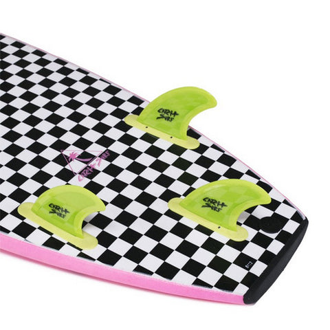 Catch Surf - Catch Surf - Stump Safety Edge Thruster Fin Kit - Lime - Products - The Mysto Spot