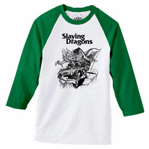 Catch Surf - Slaying Dragons Baseball Tee - Large
