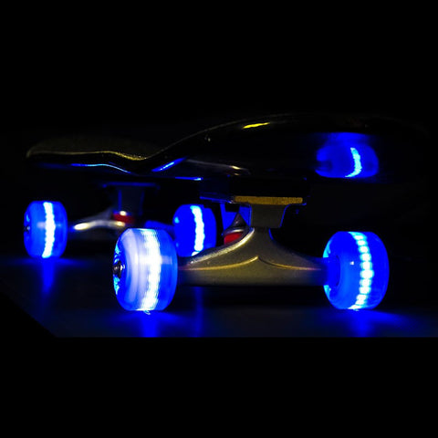 Sunset Skateboards - Flare LED Wheels - 54mm Street ~ Blue