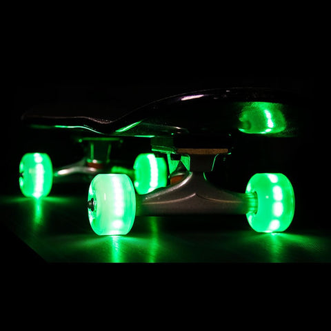 Sunset Skateboards - Flare LED Wheels - 54mm Street ~ Green