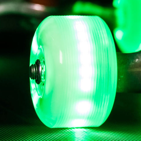 Sunset Skateboards - Sunset Skateboards - Flare LED Wheels - 54mm Street ~ Green - Products - The Mysto Spot