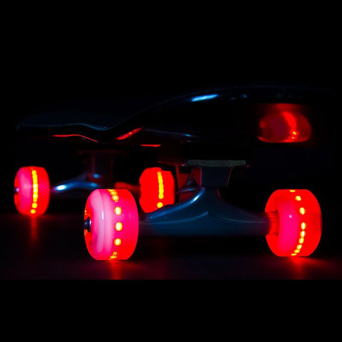 Sunset Skateboards - Flare LED Wheels - 54mm Street ~ Red