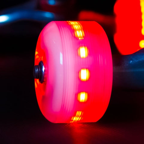 Sunset Skateboards - Sunset Skateboards - Flare LED Wheels - 54mm Street ~ Red - Products - The Mysto Spot