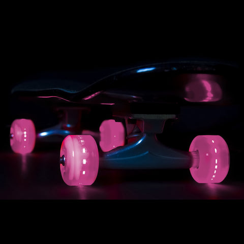 Sunset Skateboards - Flare LED Wheels - 54mm Street ~ Pink