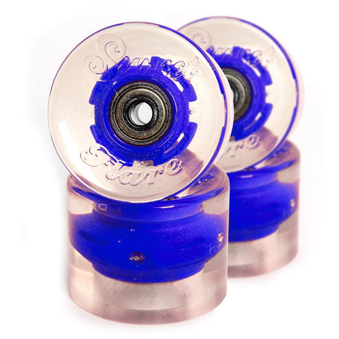 Sunset Skateboards - Sunset Skateboards - Flare LED Wheels - 59mm Cruiser ~ Blue - Products - The Mysto Spot