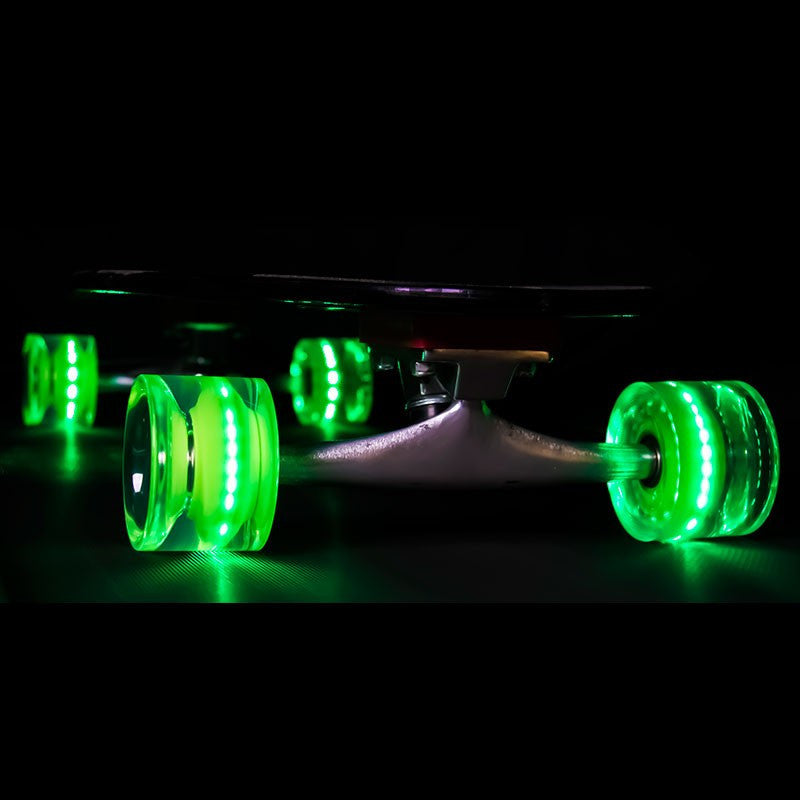 Sunset Skateboards - Sunset Skateboards - Flare LED Wheels - 65mm Longboard ~ Green - Products - The Mysto Spot
