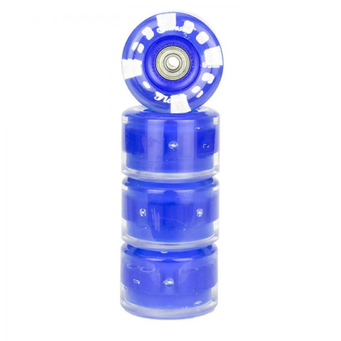 Sunset Skateboards - Sunset Skateboards - Flare LED Wheels - 65mm Longboard (round) ~ Blue - Products - The Mysto Spot