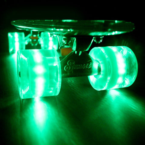 Sunset Skateboards - Sunset Skateboards - Flare LED Wheels - 59mm Cruiser ~ Green - Products - The Mysto Spot