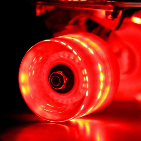 Sunset Skateboards - Sunset Skateboards - Flare LED Wheels - 59mm Cruiser ~ Red - Products - The Mysto Spot